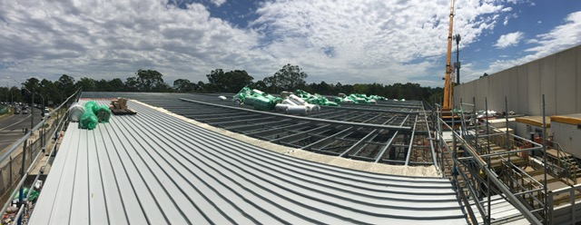 Metal Roof Contracting - NSW Ambulance - Northmead Superstation - Construction is well underway and nearing completion on the Northmead Superstation, c