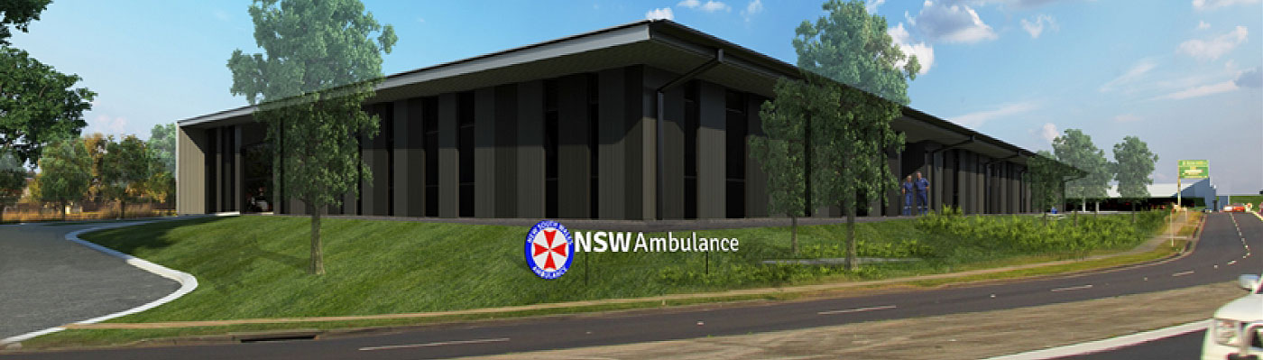 Metal Roof Contracting - NSW Ambulance - Penrith Superstation - Quikdeck Roofing has recently completed metal roofing and cladding construction (3,00
