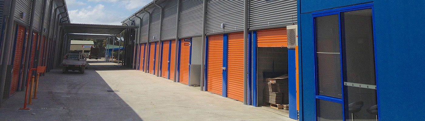 Metal Roof Contracting - Kennards Self Storage, Wollongong - This new storage facility comprising of two commercial buildings and awnings was designed to meet co