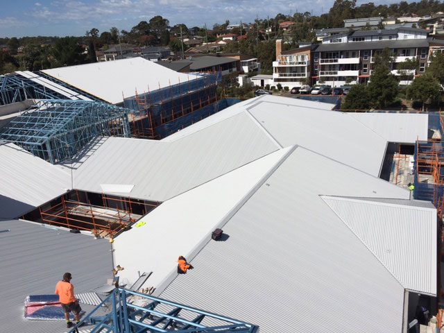 Quikdeck metal roofing contractors successfully tendered for the new Allity Aged Care Facility commercial roofing project at Pemulwuy, NSW for Grindley Constructions.