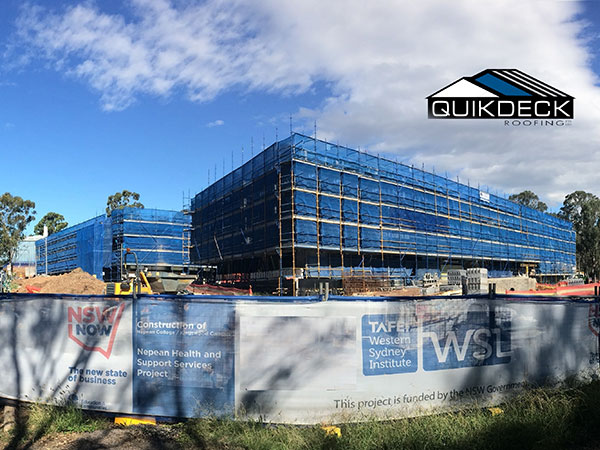 Quikdeck Roofing Services Schools and Colleges Project - TAFE NSW, Western Sydney Institute, Nepean College - ../../dc/gallery/lrg/final-with-logo.jpg