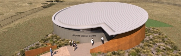 Quikdeck Metal Roofing Contractor Services Current Projects Project - Western Sydney Airport Visitor Centre