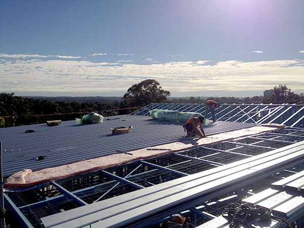 Quikdeck Metal Roofing Contractor Services Health and Community Project - Cabrini Aged Care Facility, Westmead