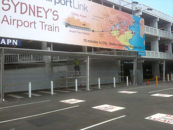 Quikdeck Metal Roofing Services Government Project - Sydney International Airport, Mascot - Project Size: 2,000 m2