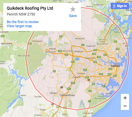 Quikdeck offers Metal Roofing Contractor Services to the Sydney metro area and beyond.