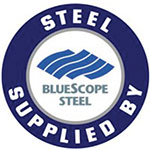 Supplied by Bluescope Steel logo