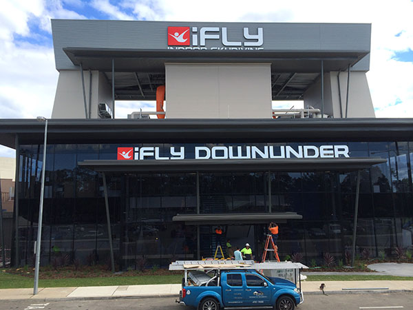 iFly Down Under Penrith  commercial metal roofing & sheeting project