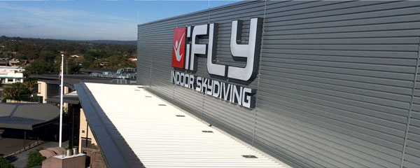 iFly Penrith metal Roofing and Caldding image
