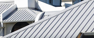 image of metal roofs.