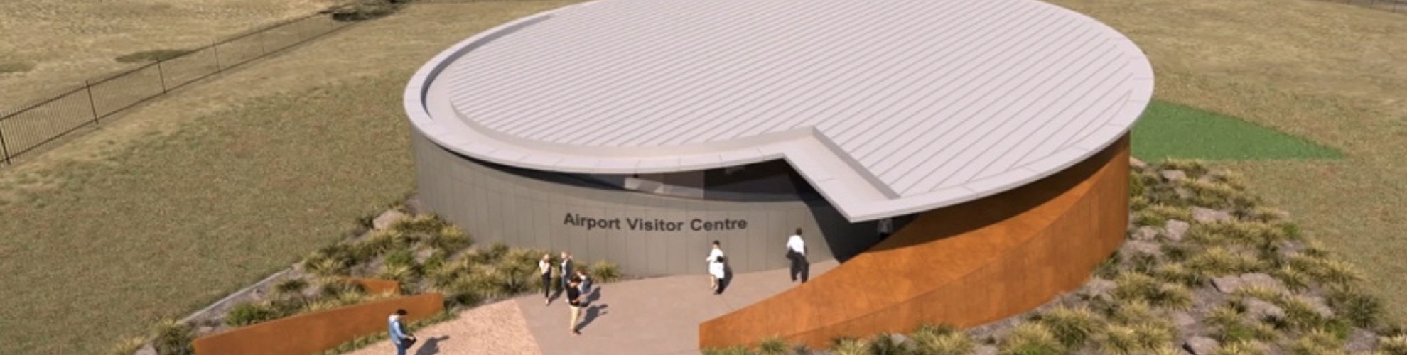 Concept rendering image of the proposed Airport Visitors Centre.
